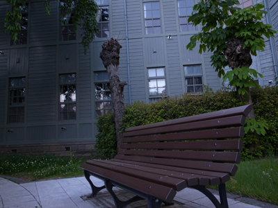 [IMAGE]木崎高校【中庭のベンチ】
